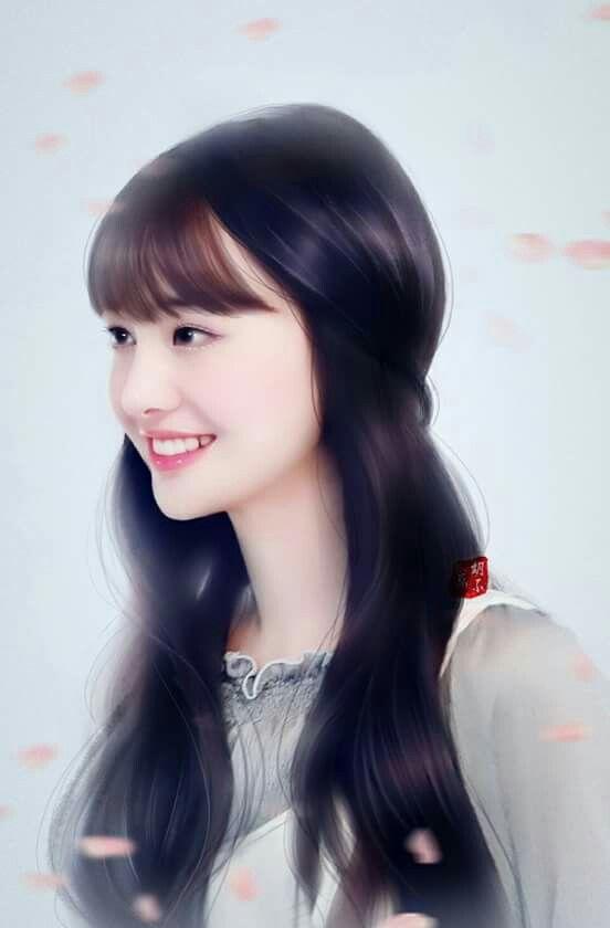 Zheng Shuang Beautiful Girl Drawing Lovely Girl Image Beauty Girl
