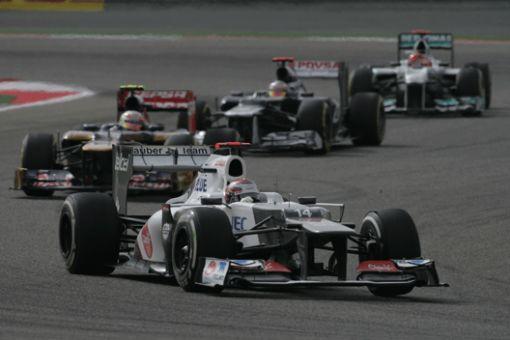 Equipo Sauber en el GP de Bahréin de F1 2012