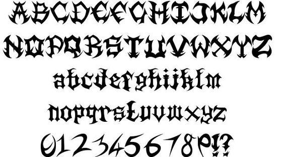 666 Death Metal Font – Billy Knight