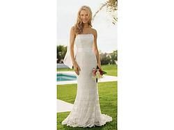 BNWT BEautiful classic sheath lace dress perfect for barn wedding outdoor wedding rustic boho. Ivory size 6 at thegreenbridedenver.com