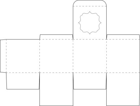 Box template for a square box the box i am and molde for Free box templates