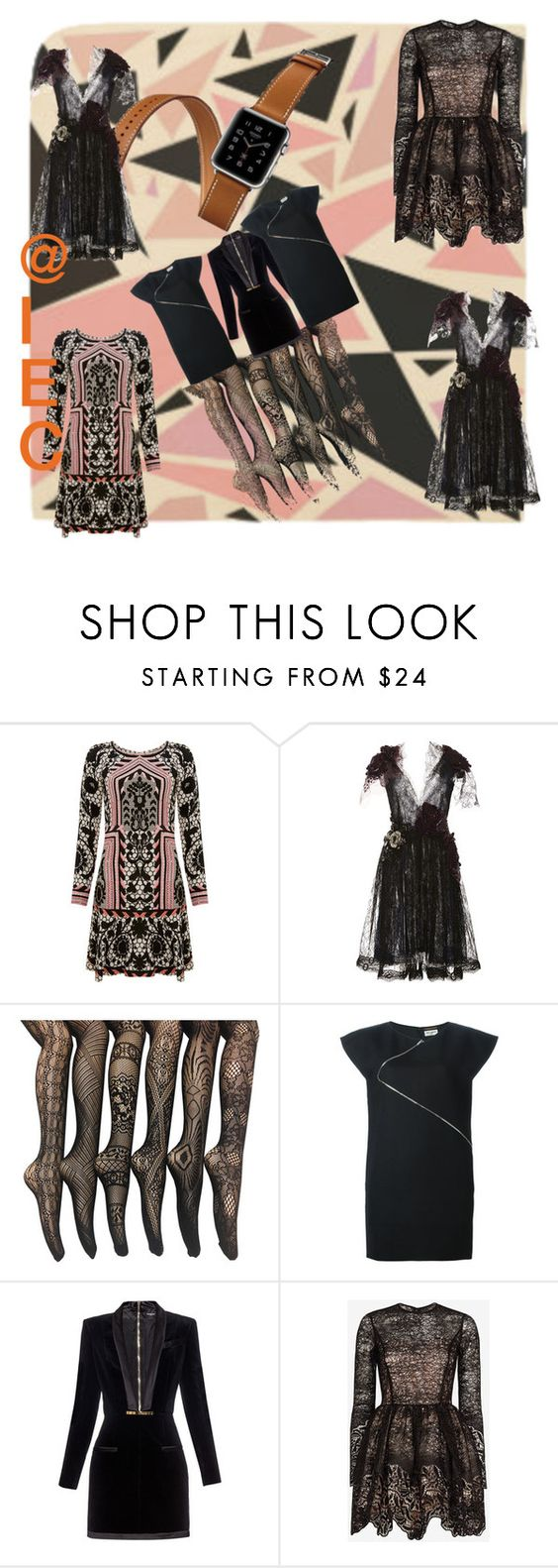 """""""Surrealism"""" by kit92 ❤ liked on Polyvore featuring Temperley London, Rodarte, Hermès, Yves Saint Laurent, Balmain and Alexis"""
