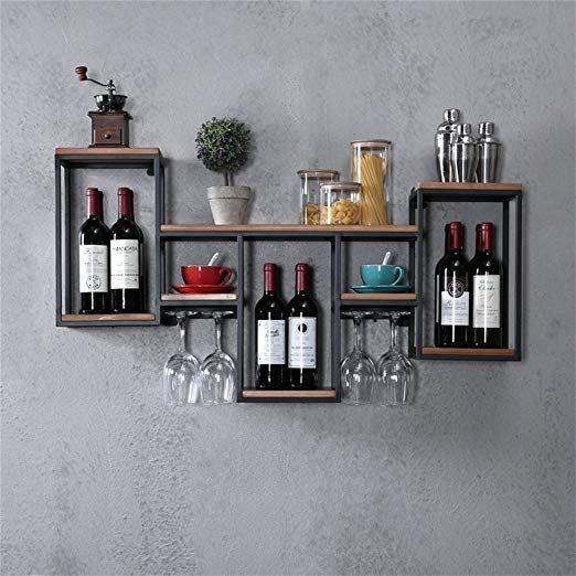 porte verre a vin en bois