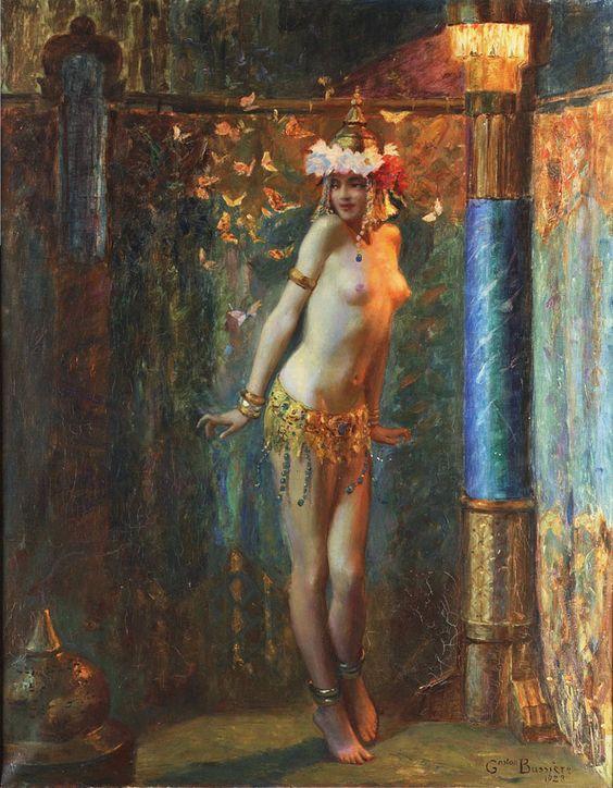La Danse de Salomé ou Les Papillons d'or, Gaston Bussière (1862-1928).