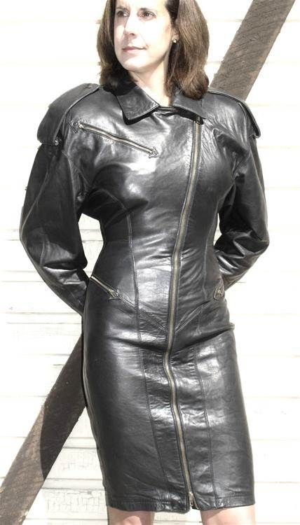 Leather Dresses Vintage Leather And Image Search On Pinterest