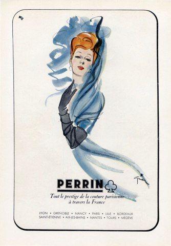 Illustration Vintage - Perrin - Gruau - 1944