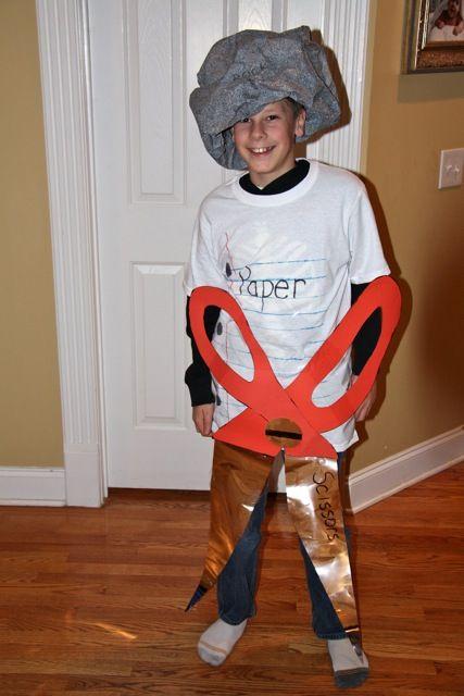 Halloween rock paper scissors homemade boy costumes for Easy halloween costume ideas for boys