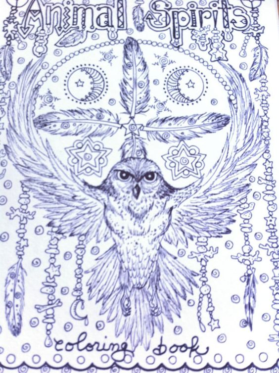 Animal Spirits Coloring Book for you to Color and by ChubbyMermaid, $12.00 (BEAUTIFUL artwork) Most come back & keep checking for new....
