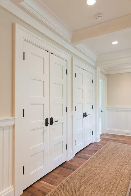 BEDROOM: White Closet Doors with Dark Exposed Hinges …   Pinteres…
