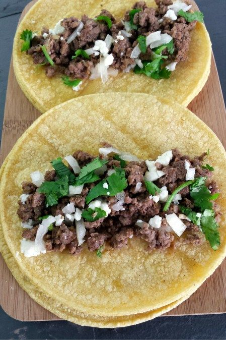 Homemade Street Tacos. With  squeeze of lime, these taste like the real deal!