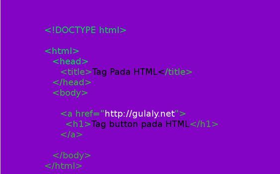 Tag pada HTML : Tag button pada HTML