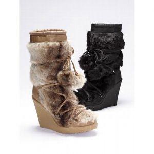 sale colin stuart wedge boots womens black fur was