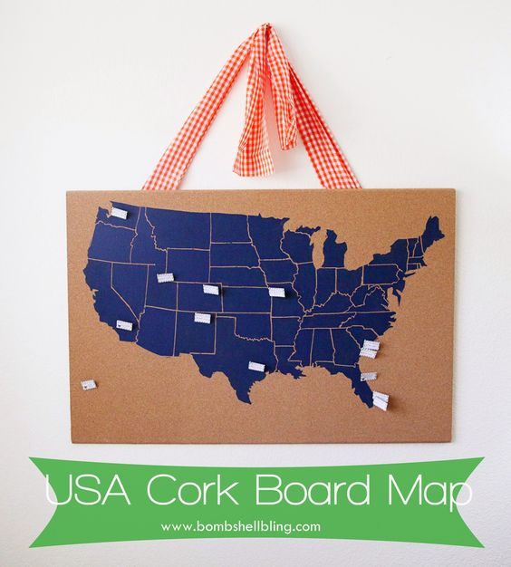 USA Cork Board Map – Map To Track Travel