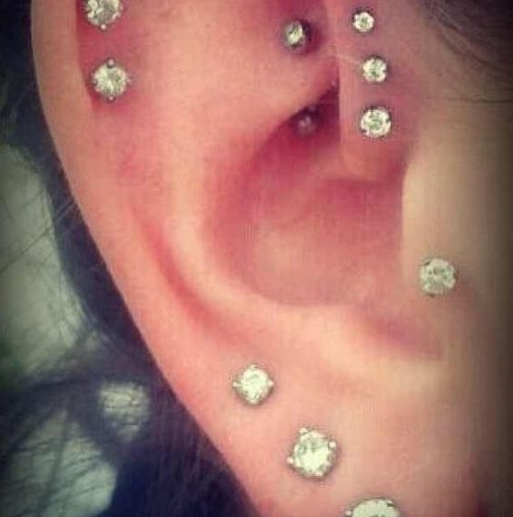 My ears kinda gonna be like this. Only I'll have 3 ...
