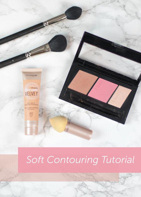 Soft Contouring Tutorial via Jessoshii.com   #makeup #maybelline