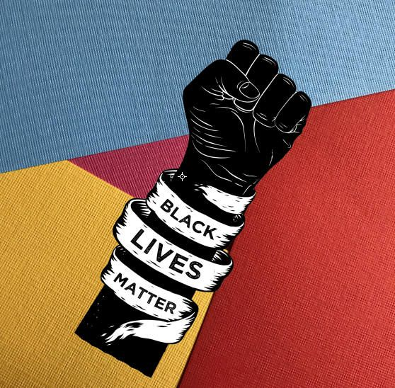 This square sticker features the words Black Lives Matter. It ...