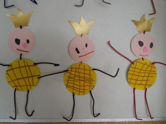 Les rois dessin du bonhomme et graphisme pour le for Art et decoration pdf