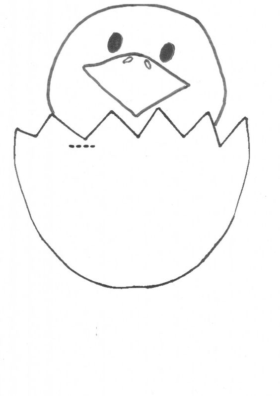 Cracked Egg Chicky Template (free) | Aussie Kid Blogger ...