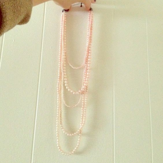 Layer Pink Pearl Necklace This necklace has 5 layers of baby pink pearls.  In good condition. unknown Jewelry Necklaces