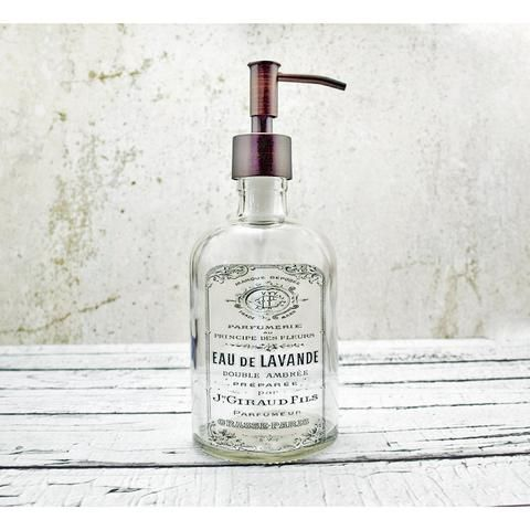 This Soap Dispenser Has A Timeworn Look Similar To The Wood Signs That Are So Popular Farmhouse Bathroom Accessories Bronze Bathroom Accessories Soap Dispenser