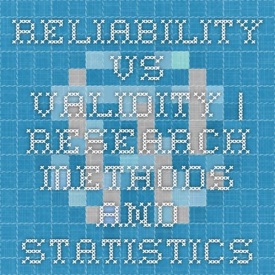 Reliability vs. Validity | Research Methods and Statistics