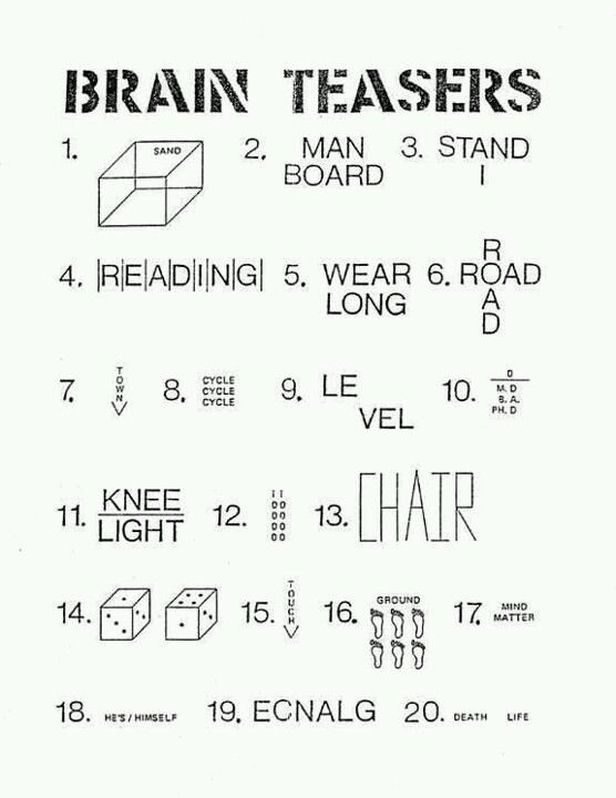 graphic regarding Visual Brain Teasers Printable named Thoughts Teasers Puzzles - Head Teasers