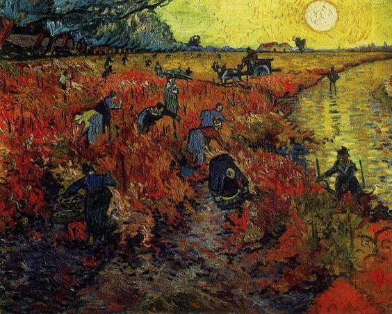 Красные виноградники в Арле — Ван Гог: