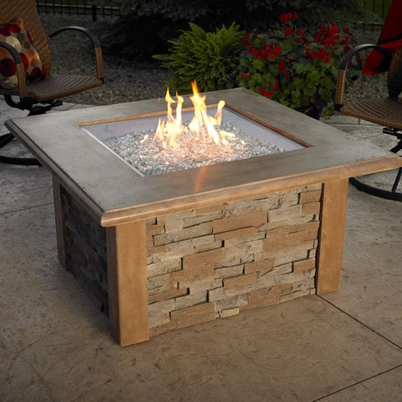 Sierra Fire Pit Table - Square Burner