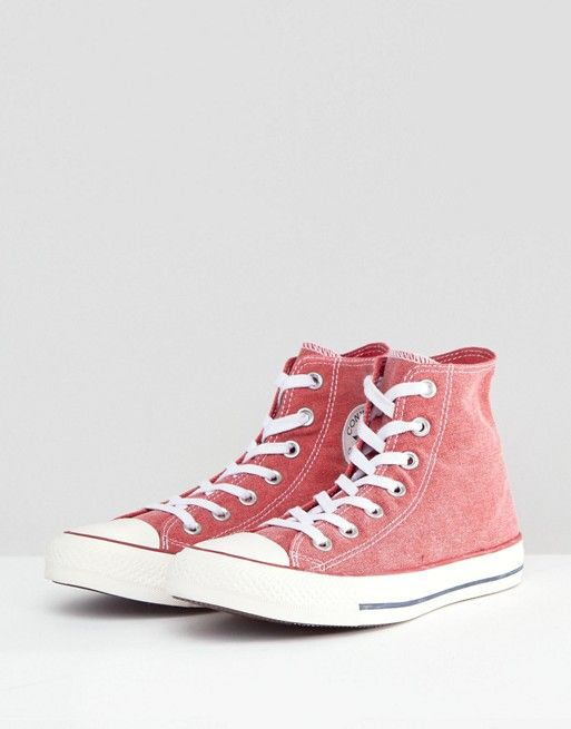 Converse Chuck Taylor All Star Hi Sneakers In Stonewashed Red in ... a573ef686