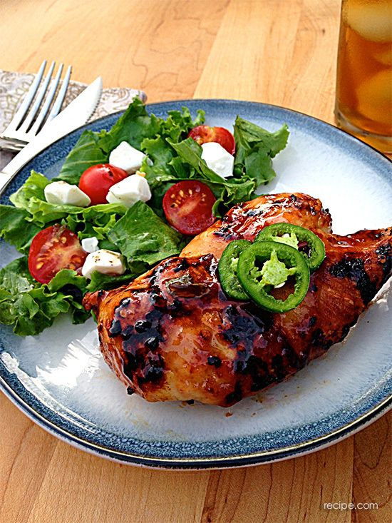 Easy and Delicious Glazed Grilled Chicken | Delicious Receipts ...