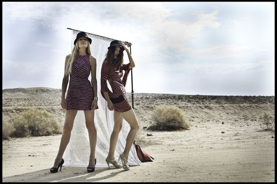 unexpected fashion photoshoot in the desert