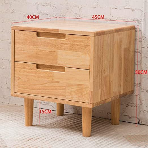 Zpee Solid Wood Nightstand Fully Assembled Modern Chic Furniture Bedside Drawer With Drawer Storage Smoo In 2020 Bedroom Storage Cabinets Wooden Cabinets Table Storage
