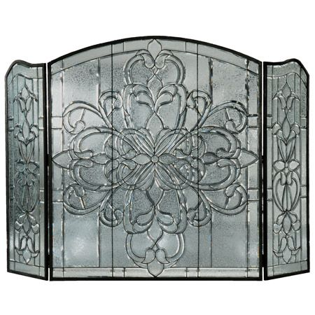 Beveled Glass Fireplace Screens And Glass Fireplace Screen On Pinterest
