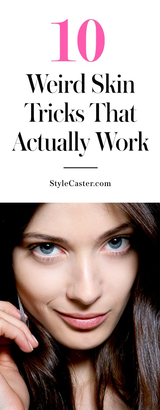 A great list of weird beauty tricks for perfect skin @stylecaster