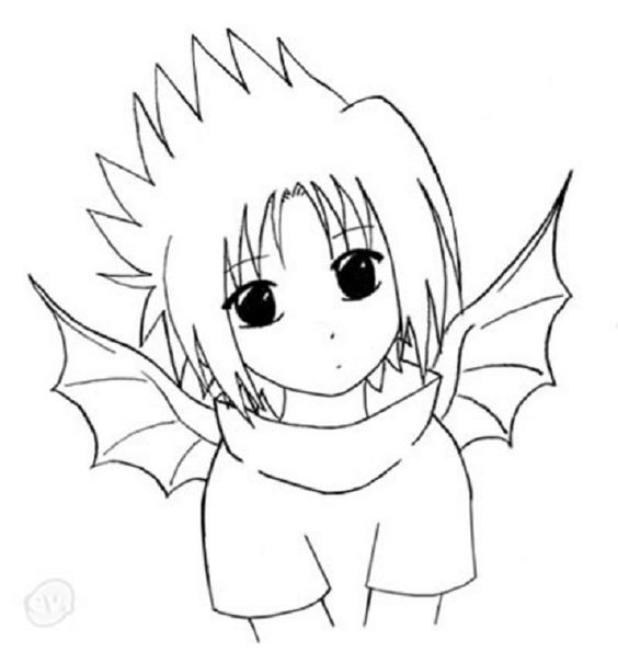 Naruto chibi by coloring pages coloring pages for Chibi naruto coloring pages