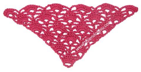 Cómo tejer el punto triangular en crochet