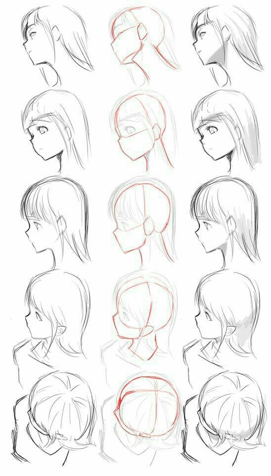 Head Angle Perspectives Drawing Manga Anime Drawings Tutorials Drawing Tutorial How To Draw Hair