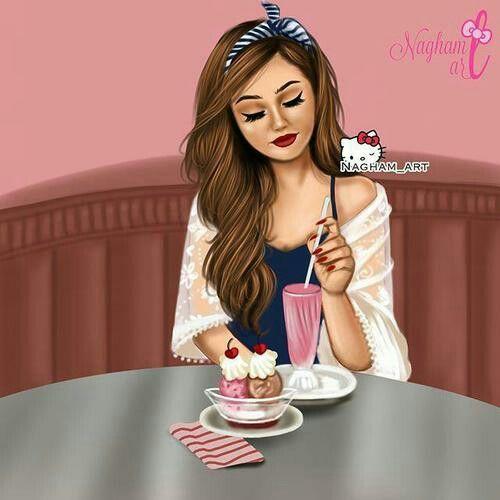 رمزيات بنات أكل Beautiful Girl Drawing Cute Girl Wallpaper Girly M