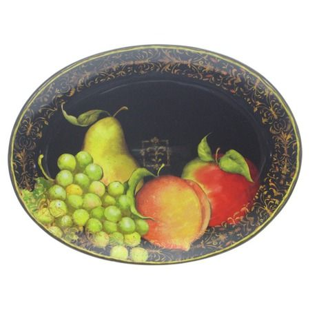 Fruit Filigree Oval Platter