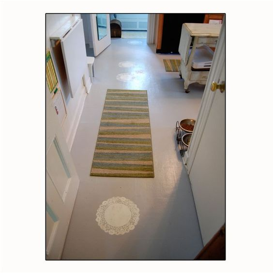 Melissa's stenciled floor