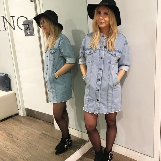 Denim dress accessories