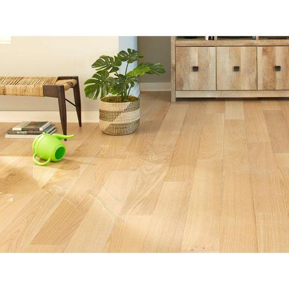 Ceruse Blonde Oak Wire Brushed Water Resistant Engineered Hardwood In 2020 Engineered Hardwood Hardwood Floor Colors Refinishing Floors