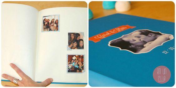libro firmas boda personalizado con fotos de los invitados para que cada uno tenga su espacio.