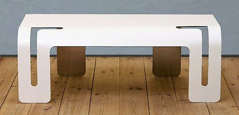 Folded ALUCOBOND® bench #alucobond #bench #chair: