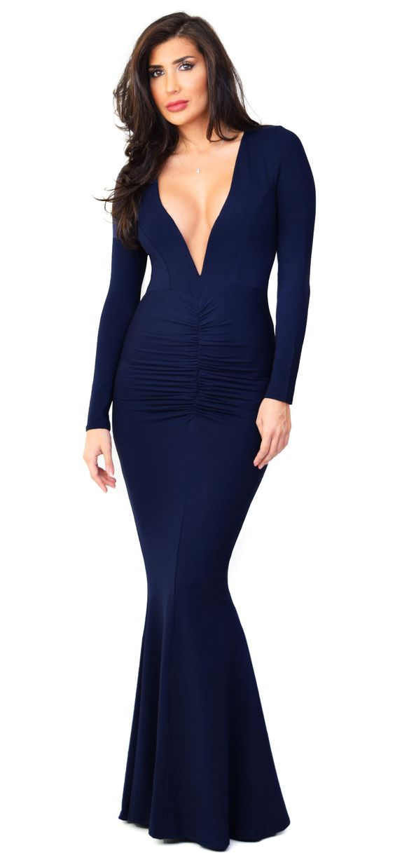 Anastasia Navy Maxi Dress