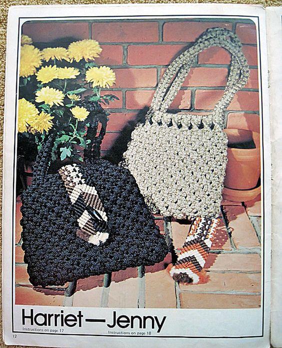 Purse Strings Macrame Handbags... handmade by by grammysyarngarden