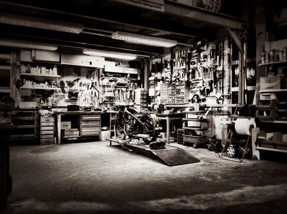 Engineering garages and garage doors on pinterest for Custom garage workshop
