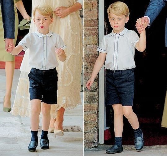 Prince George Attends His Little Brother Prince Louis Christening At St James S Palace On July 09 2018 In Prince George Prince George Alexander Louis George