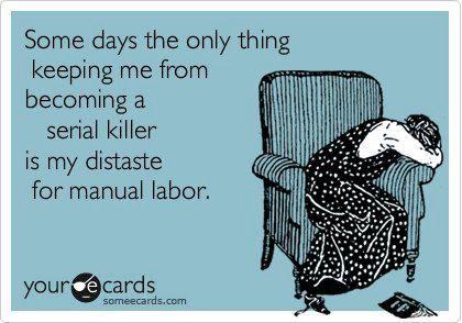too bad I'm so lazy...