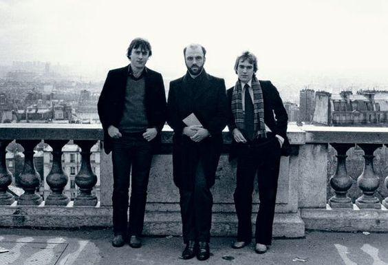 Christopher Hitchens, James Fenton, and Martin Amis at Sacré-Coeur, in Paris, 1979